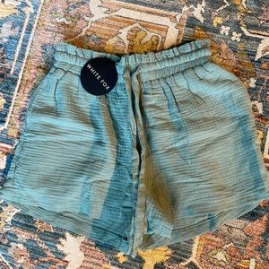 White Fox Boutique Hard to Handle Shorts in Sage